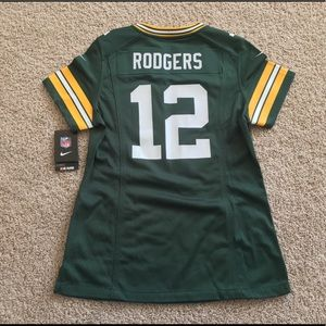 NEW Green Bay Packers Aaron Rodgers women jersey S